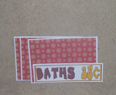 Baths 25 cents - 4pc Mat Set