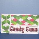 Candy Cane - 4pc Mat Set