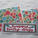 Happy Holly Days - 4pc Mat Set