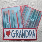 I Love Grandpa - 4pc Mat Set