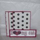 I Love My Cat - 4pc Mat Set