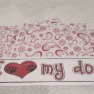 I Love My Dog a - 4pc Mat Set