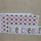 Ice Cream - 4pc Mat Set