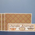 Jungle Animals - 4pc Mat Set