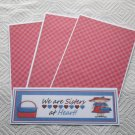 Red Hat We Are Sisters - 4pc Mat Set