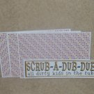 Scrub A Dub - 4pc Mat Set