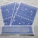 Snowflakes b - 4pc Mat Set