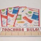 Teachers Rule a - 4pc Mat Set