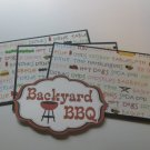 Backyard BBQ - Title/Saying Mat Set