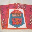 Giddy Up Cowboy - Title/Saying Mat Set