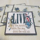 Live In The Sunshine - Title/Saying Mat Set