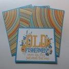 Old Fisherman - Title/Saying Mat Set