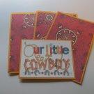 Our Little Cowboy - Title/Saying Mat Set