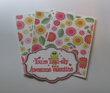 You're Toadally Awesome Valentine - Title/Saying Mat Set