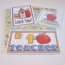 #1 Teacher - 5 piece mat set