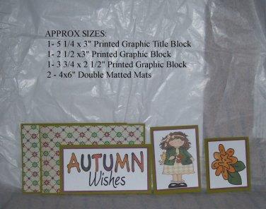 Autumn Wishes Girl - 5 piece mat set