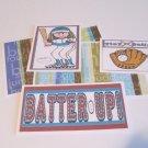 Batter Up Girl a - 5 piece mat set