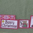 Beary Christmas Stocking - 5 piece mat set