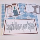 Congratulations On Your Baptism Boy a - 5 piece mat set