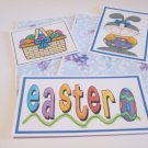 Easter Bunny Girl a - 5 piece mat set