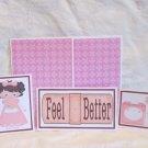 Feel Better Girl - 5 piece mat set