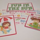 Fun In The Sun Girl - 5 piece mat set