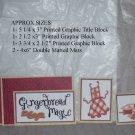 Gingerbread Magic Apron - 5 piece mat set