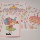 Happy Birthday Girl - 5 piece mat set