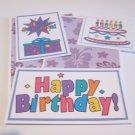 Happy Birthday Purple - 5 piece mat set
