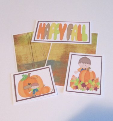 Happy Fall Boy 1 - 5 piece mat set