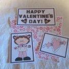 Happy Valentine's Day Girl - 5 piece mat set