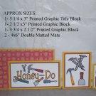 Honey Do - 5 piece mat set