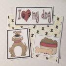 I Love My Dog - 5 piece mat set