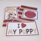 I Love My Puppy Boy 2 - 5 piece mat set