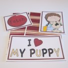 I Love My Puppy Girl a - 5 piece mat set