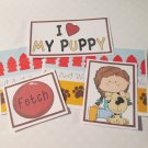I Love My Puppy Girl - 5 piece mat set