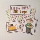 Little Boys Big Toys - 5 piece mat set