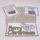 Merry Christmas Mice a - 5 piece mat set