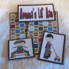 Momma's Lil Man - 5 piece mat set