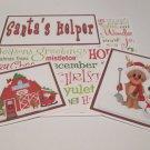 Santa's Reindeer a - 5 piece mat set