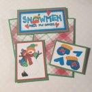 Snowmen Melt My Heart - 5 piece mat set