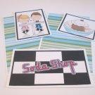 Soda Shop Boy and Girl a - 5 piece mat set