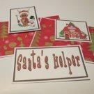 Santa's Helper Reindeer c - 5 piece mat set