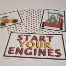 Start Your Engine a - 5 piece mat set