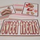 Sweet Treats Gingerbread Girl - 5 piece mat set