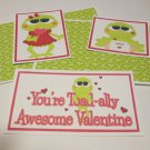 You're Toadally Awesome Valentine - 5 piece mat set