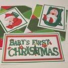 Baby's First Christmas a - 5 piece mat set