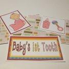 Baby's First Tooth Girl - 5 piece mat set