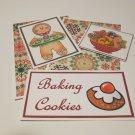 Baking Cookies Gingerbread 1b - 5 piece mat set