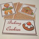 Baking Cookies Gingerbread 1 - 5 piece mat set